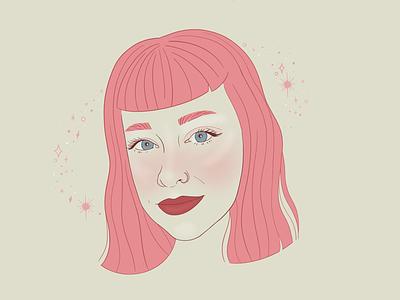Self Portrait self portrait illustration portrait