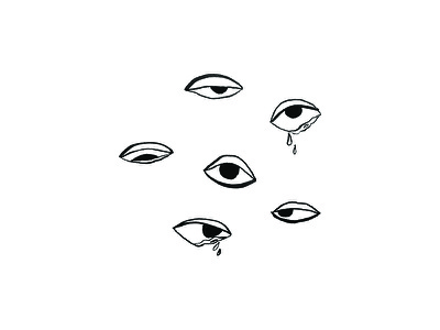 Allergies ink eyes eye illustration