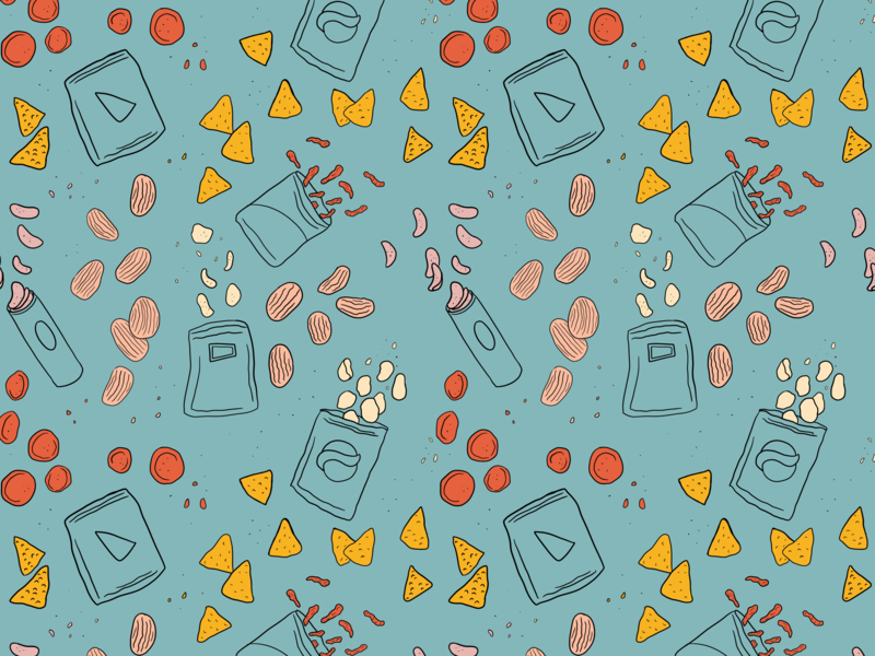 Chip Pattern procreate illustration repeat pattern crisps potato chips chips chip