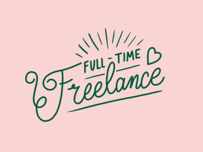 Gone Freelancin' hire me freelance lettering illustration