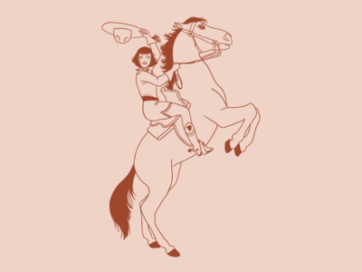 Yeehaw cute western illustration horse
