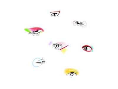 Euphoria Makeup(Jules) colorful color eyes illustration makeup euphoria hbo