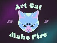 Art Cat Make Fire