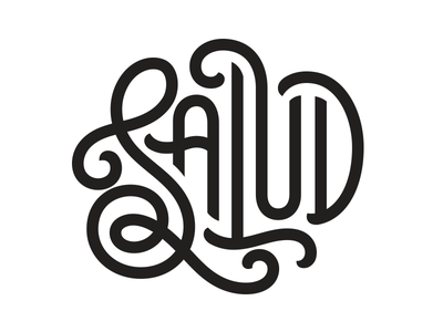 Salud merch stickers logo design hand lettering lettering