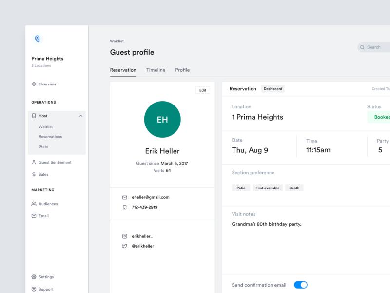 Guest Profile profile design profile ui design app dashboard app dashboard web dashboard ux  ui user interface