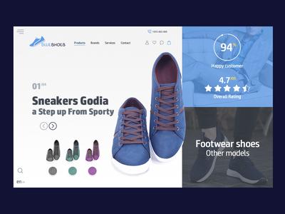 Blue Shoes web Template