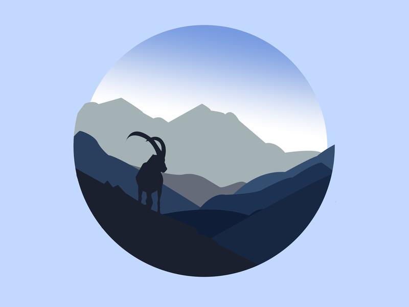 Capricorn illustration zodiac vector animal illustration illustration illustrator cc design