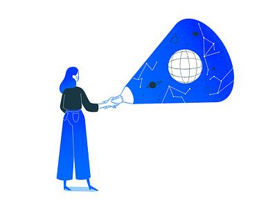 Illustrations for Closelink, Hamburg / 2 blue marine maritime visual identity brand identity branding girls digitalart character art illustration freelance illustrator character characterdesign