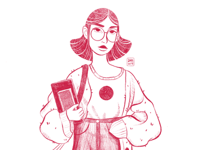 Back to School design school illustration portait schoolgirl sketchbook girls freelance illustrator digitalart procreate characterdesign digital 2d character art character bookillustration