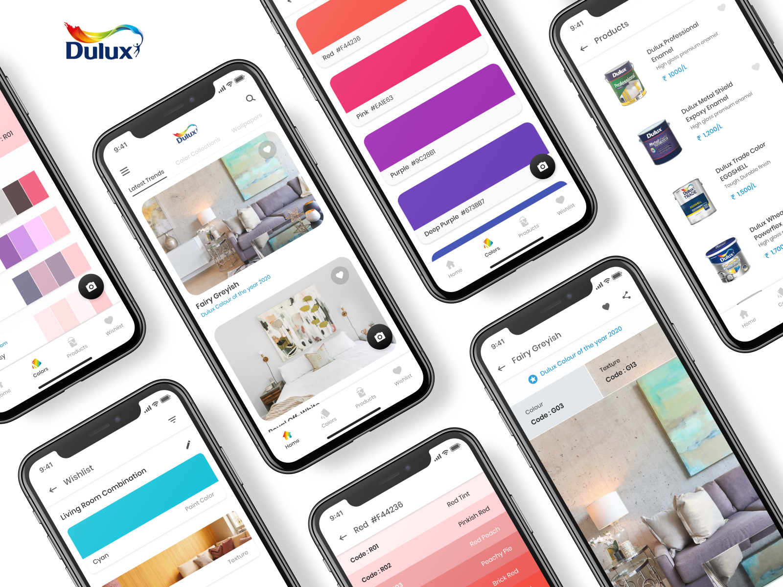 Dulux Visualizer Re-design Concept by jinal mehta on Dribbble
