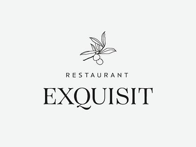 Logotipo Exquisit design logo restaurant branding