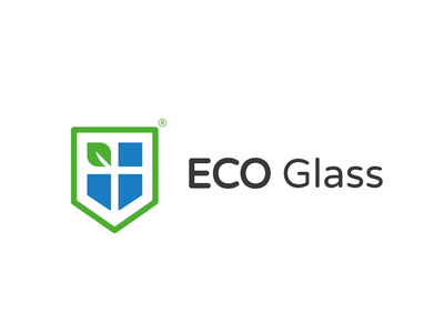 Eco Glass Logotype production ecology eco glass design branding bright logotype logo