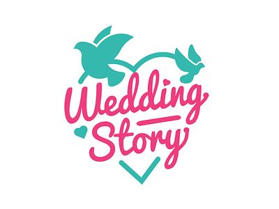 Wedding Story | Logo for startup startup logotype logo wedding love heart