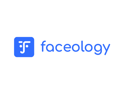 Faceology App logotype branding bright abstract concept logotype logo