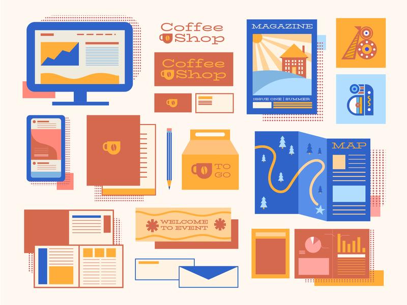 Graphic Design Services Illustration vector art illustration digital icon vector illustration brand design logo branding vector design illustration
