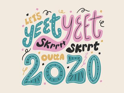 Happy New Year 2021 illustration art illustration typography holiday new year handlettering lettering challenge lettering artist lettering