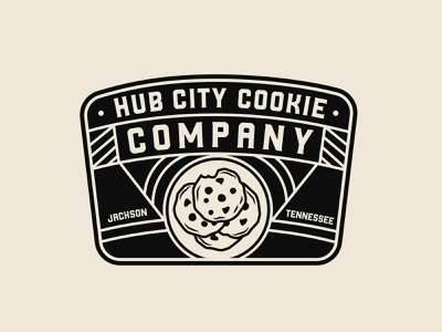 Hub City Cookie Company Vintage Badge typography badge logo brand design vintage logo vintage badge vintage logodesign branding