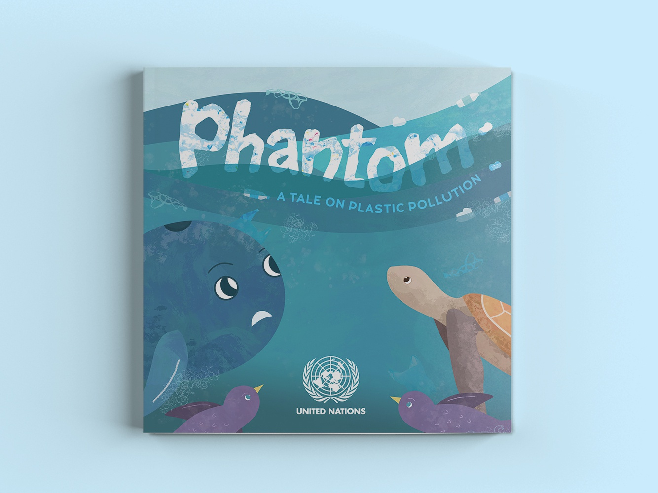 Phantom: A Tale on Plastic Pollution perception change project united nations childrens book book books book illustrations illustration art book design kids illustration childrens book illustration book illustration book cover illustration