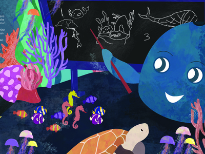 Phantom: A Tale on Plastic Pollution Illustration