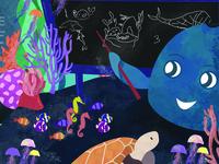Phantom: A Tale on Plastic Pollution Illustration