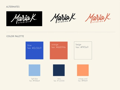 Brand Colors Guide - Maria K. Studios