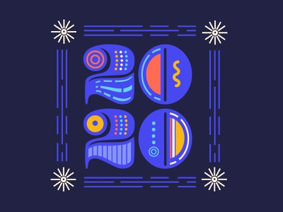 Happy New Year 2020 vector illustration vector art custom type hand lettering lettering artist lettering art lettering illustration design newyear 2020 typedesign type art illustration art vector typography design illustration