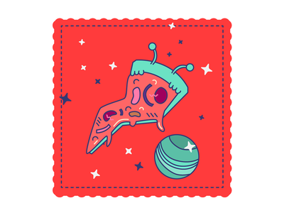Pizza, lonely in space