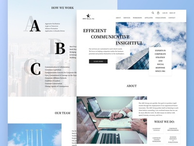 Consulting Company Website Redesign