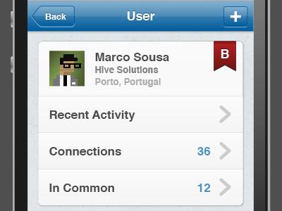 iOS User Account user iphone ios user profile hive take the bill ribbon