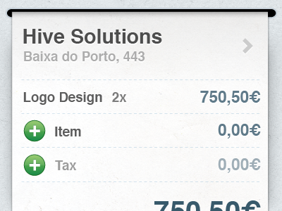 iPhone Invoice - Creation ios iphone invoice hive take the bill add texture