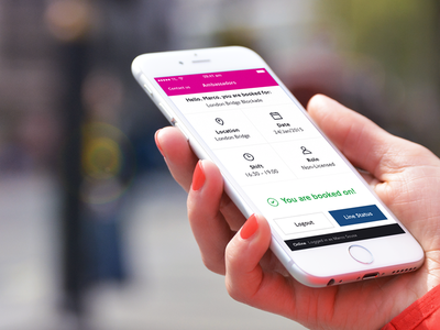 TfL Ambassadors  mobile ui mobile grid clean transport app london ambassadors tfl iphone