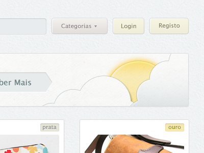 Shining through! header sun illustration clouds feature bar products list input more texture