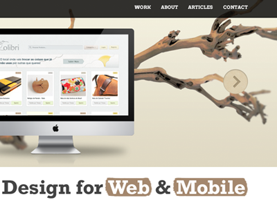 Portfolio Concept portfolio nature imac brush slider full-width branch