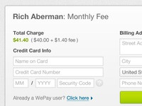 Wepay Checkout