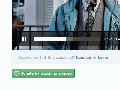 Video Player & Donate donations donate causes video player video player html5
