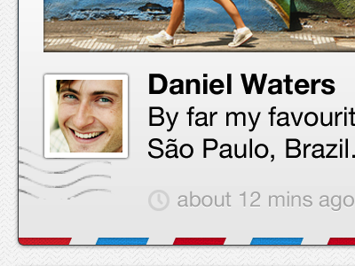 iOS Postcard ios postal postcard texture iphone retina