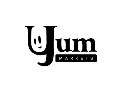 Yum Markets shop smile identity market food weeklywarmup logo branding character icon illustration