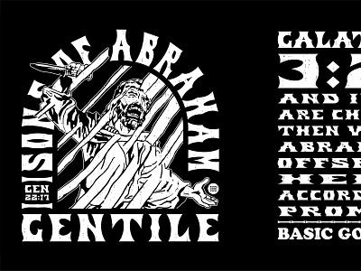 Sons of Abraham (The Real SOA) christian sacrifice tshirt club good basic bible verse promise galatians genesis abraham bible