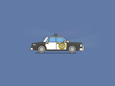 Chief Wiggum (NACAB) tv set chief car police car police copy chief wiggum wiggum simple illustration collection the simpsons simpsons outline