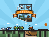 Arizona's 5 Cs - The Great Crest of the State of Arizona (Color)
