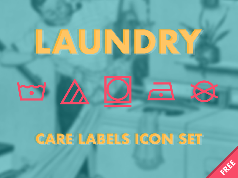 Download Laundry – Care Labels Icon Set