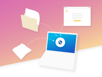 Angled MB - Security (I likey, they no likey) gradient apple macbook icon illustration