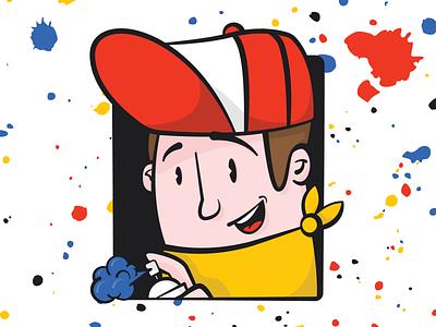 Graffiti Feller spraypaint bandana cap character illustration graffiti