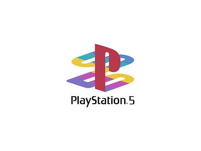 Playstation 5 branding logomark 5 playstation ps5 heritage original logo icon illustration