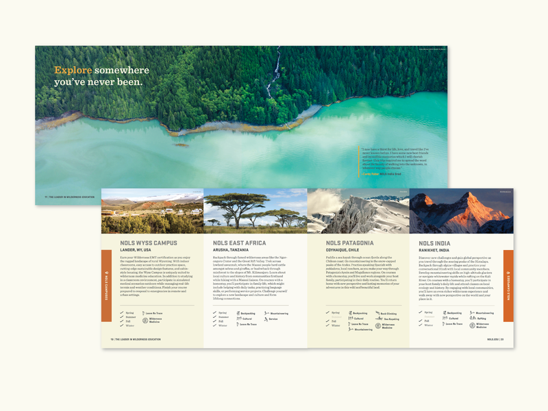 Interior NOLS Catalog Pages