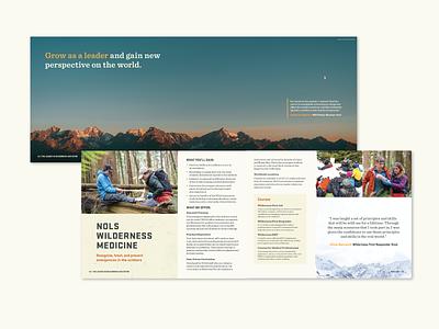 Interior NOLS Catalog Pages 2 wilderness catalog brand design print design