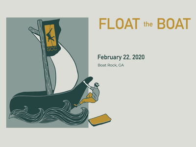 Social Float the Boat 2020 climbing illustraion logo