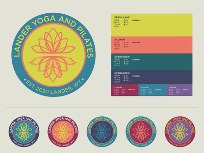 Lander Yoga and Pilates logo design brand design yoga logo