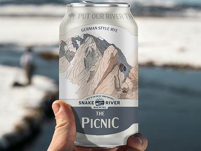 Snake River Brewery Beer Artwork brand design product design beer label beer can