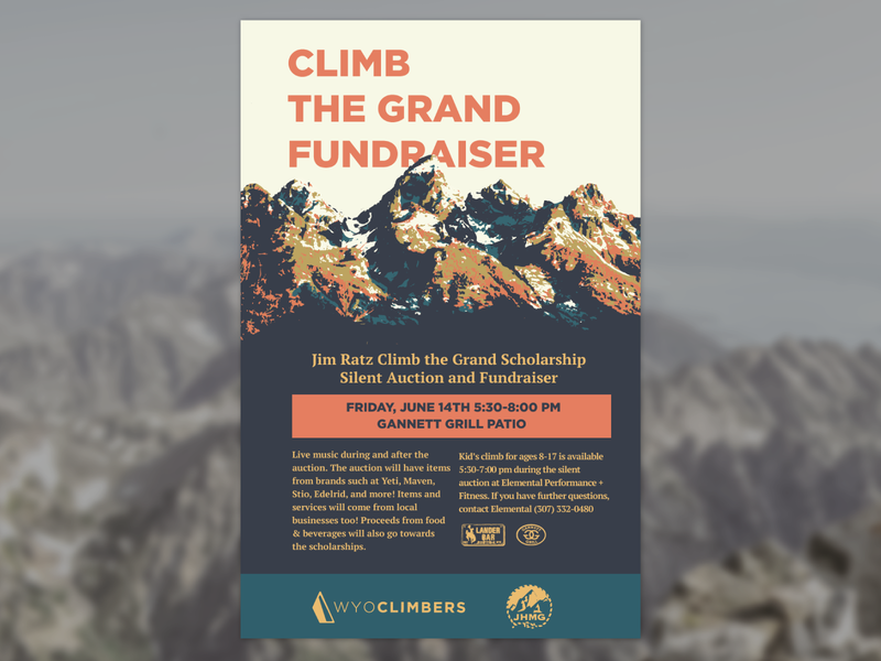 Climb the Grand Fundraiser Poster print design poster design